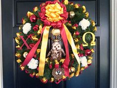 Chi Omega Christmas Wreath by awesomewreaths on Etsy, $95.00