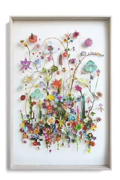 Flower construction #74 (w:80 h:120 d:6.5 cm) Mehr