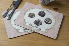 Creative Tops are pleased to present their new placemat collection, 'Chocolatier'.  www.creative-tops.com #tableware #creativetops #placemat #chocolate