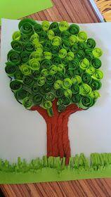 How to make DIY paper tree Kids Crafts, Spring Crafts For Kids, Tree Crafts, Summer Crafts, Art For Kids, Paper Crafts, 3d Paper, Earth Craft, Earth Day Crafts