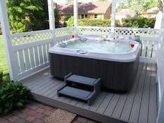 Hot tub on the deck jacuzzi hot tub, hot tub patio, jacuzzi outdoor, Hot Tub Patio, Jacuzzi Hot Tub, Backyard Patio, Backyard Ideas, Patio Ideas, Outdoor Baths, Jacuzzi Outdoor, Outdoor Spa, Whirlpool Deck