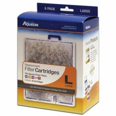 Aqueon Replacement Filter Cartridges - Large - 6 pk - ON SALE! http://www.saltwaterfish.com/product-aqueon-replacement-filter-cartridges-large-6-pk