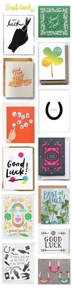 Stationery A-Z: Good Luck Cards