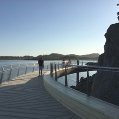 Footbridge at Håhammaren, Hafrsfjord, Stavanger.  Design: Karen Hatleskog Zeiner, engineering: Jo Gaute Fornes (Multiconsult)