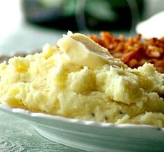 "Sinfully Delicious Garlic Mashed Potatoes: ""My go-to recipe for garlic mashed potatoes. I like to add a little seasoned salt while mashing. Also, don't be shy with the garlic."" -ChefWendyMG"