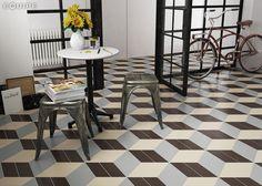 Chevron Gris, Crema, Marrón Left 9x20,5. #chevron, #wall floor tiles, #ceramic, #basic color, #ceramic tile, #porcelain tile, #contemporary, #modern, #form, #geometric, #interior design, #monochromatic, #shape, #trend, #architecture, #vanguard, #monochromatic, #equipe, #equipe cerámicas, #hexagon