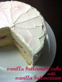 vanilla buttermilk cake with vanilla swiss meringue buttercream by awhiskandaspoon, via Flickr