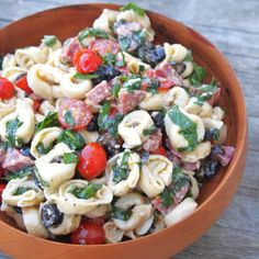 Tortellini Salad -  A meal in one salad, with cheese tortellini. Click for recipe