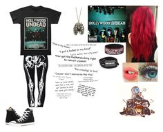 """Hollywood Undead"" by faygoman ❤ liked on Polyvore featuring Charlotte Tilbury, Converse and McQ by Alexander McQueen"