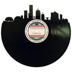 Milwaukee Skyline Records Redone Label Vinyl by RecordsRedone