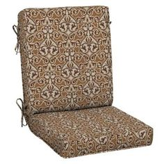 Patio Cushion Ideas - Hampton Bay Cayenne Scroll Quick Drying Outdoor Chair Cushion - The Home Depot Outdoor Chair Cushions, Outdoor Chairs, Cushion Ideas, Floor Chair, The Hamptons, Accent Chairs, Furniture, Home Decor, Upholstered Chairs