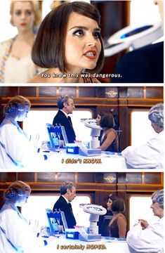 """Clara: """"You knew this was dangerous."""" The Doctor: """"I didn't know. I certainly hoped."""""""