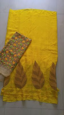 Georegette Sarees With Designer Blouse   Buy Online sarees   Elegant Fashion Wear                                                                                                                                                     More