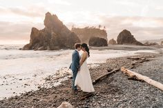 This guide to planning your Olympic National Park elopement will help you with everything you need to know to get married in the most geographically diverse national parks in the country. Olympic National Park features hot springs, rainforest, whitecap mountains and the rugged Washington coast. Airbnb Wedding, Hawaii Adventures, Camp Wedding, Beach Elopement, Olympic Peninsula, Park Weddings, Hot Springs, Pacific Northwest, Getting Married