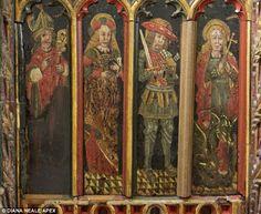 Gestolen panelen uit een kerk in Devon, vijtiende eeuw