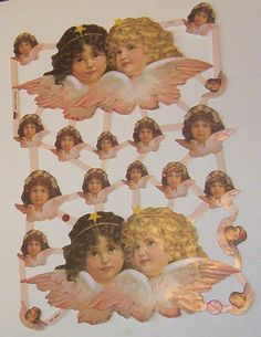 German Victorian Easter Christmas Angel cherub by TheWisdomTree