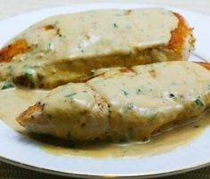 Chicken breasts with tarragon.This chicken breasts recipe belongs to French cuisine.White wine,cream and the delicate herb known as tarragon are there of the foundations for classic French cuisine. See More Delicious Recipes! Low Carb Recipes, Cooking Recipes, Cooking Tips, Slow Cooking, Pressure Cooking, Easy Recipes, Vegetarian Recipes, South Beach Diet, Breast Recipe