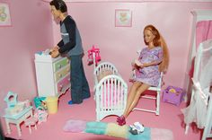 Barbie Happy Family, Make A Family, Baby Makes, Barbie World, Doll Stuff, Illustrations And Posters, Toddler Bed, Childhood, Baby Boy