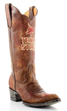Texas State University boots are sure to make an impression at any Bobcats event, whether it's a game, reunion or business meeting with Texas State alumni. Step out in these ladies Texas State boots a