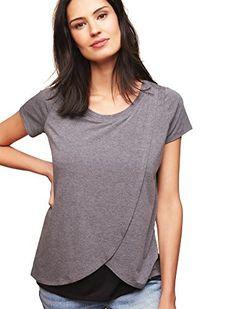 fa21c0e4644a6 Motherhood Short Sleeve Tulip Layered Nursing T-shirt Motherhood Maternity,  http://