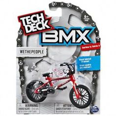 Buy Tech Deck: BMX Finger Bike - We The People at Mighty Ape NZ. Get the best in replica miniaturised BMX bikes from Tech Deck! With real metal replica frames and graphics from some of the top brands in the BMX ind. Bmx Street, Tech Deck, Bmx Bicycle, Bmx Bikes, Sunday Bmx, Bmx Girl, Finger, Bmx Racing, Bicycles