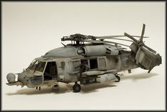Sikorsky HH-60H Rescue Hawk CSAR/SEAL platform, 1/35 scale. By wakko807. From ACADEMY 1/35 MH-60 Black Hawk/Knight Hawk kit. #helicopter #chopper #scale_model