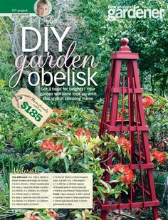 DIY garden obelisk – How pretty is this?! @ its-a-green-life