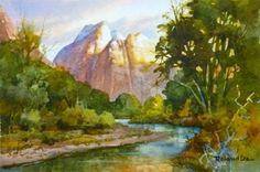 Roland Lee    WATERCOLOR                     Zion National Park
