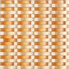 Vintrav Burnt Orange 3D Waves Glass Mosaic Tiles. #3D_waves, #Glass_mosaic_tile, #Vintrav, #Burnt_orange