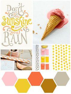 Color Me : Peach, Gray, + Gold