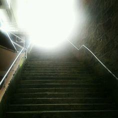 La luz al final de las escaleras. Stairway to heaven? Stairway To Heaven, Stairways, Finals, Home Decor, Walks, Staircases, Lights, Life, Stairs