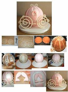 carrozza cenerentola Cake Tutorial Pinterest Cake Tutorials
