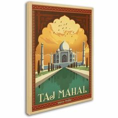 Trademark Fine Art Taj Mahal Canvas Art by Anderson Design Group, Size: 18 x 24, Multicolor