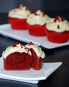 Red Velvet Cupcakes for Valentine's Day.