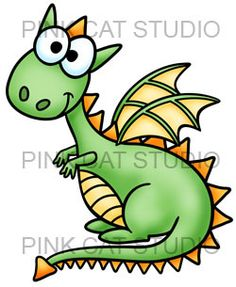 This cute dragon has joined the Pink Cat Studio family of characters.