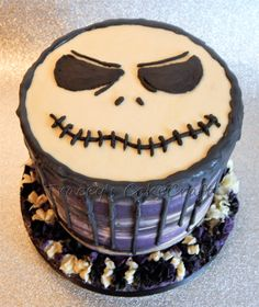 Jack Skellington drip cake