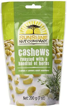 Sunshine Nut Company Cashews Roasted with a Handful of Herbs, 7 Ounce (Pack of 12) * Check out this great image @