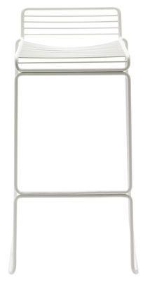 Hee Bar stool - H 75 cm - Metal White by Hay