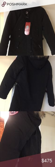 Canada goose Kensington parka Brand new with tag Canada goose Kensington parka jacket in black. It was bought from Canada goose online but was never worn. The coyote fur trim on the hat is removable. Canada Goose Jackets & Coats Puffers