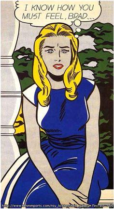 "Roy Lichtenstein - ""I know how you must feel, Brad"""