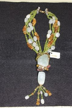 Signed Iradj Moini Necklace with aquamarine, citrine and peridot #IradjMoini