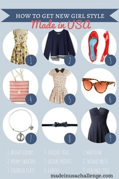 How to Get Zooey Deschanel's Style as Jessica Day in the New Girl with Made in USA Clothes and Accessories