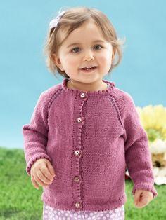 """Look Mom, No Seams"" Cardigan | Yarn | Free Knitting Patterns | Crochet Patterns | Yarnspirations"