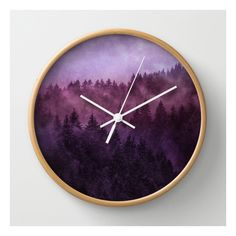 Society6 Excuse Me, I'm Lost // Laid Back Edit Wall Clock ($30) ❤ liked on Polyvore featuring home, home decor, clocks, wall clocks, photo clock, battery operated clock, battery wall clocks, photo wall clock and battery clock