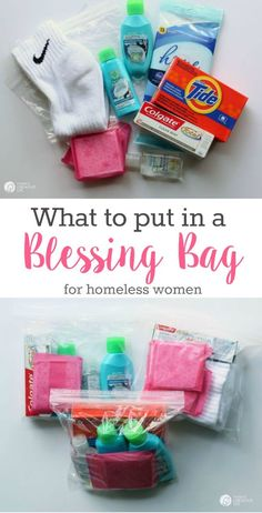 Blessing Bags for Women | Create small baggies full of items to hand out to people in need. Great for homeless women or drop them off at Women's Shelter. See more on TodaysCreativeLife.com