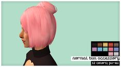 >> Accessory Buns - 12 kiinuu colors; all ages and genders - textures from pooklet, zeusar >> download all @ SFS here's 4 sets of hair accessories to match how i do hairs now. they're all conversions...
