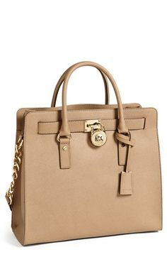MICHAEL Michael Kors 'Hamilton - Large' Saffiano Leather Tote available at #Nordstrom Dark Khaki