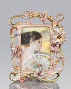 """""""Cecile"""" Floral & Scroll 4"""" x 6"""" Frame by Jay Strongwater at Neiman Marcus."""
