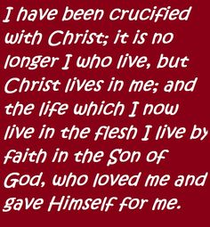 Galatians 2:20. Christ Living in You