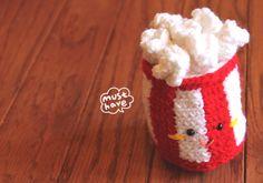 Amigurumi Food and More free pattern!! Pop corn!!